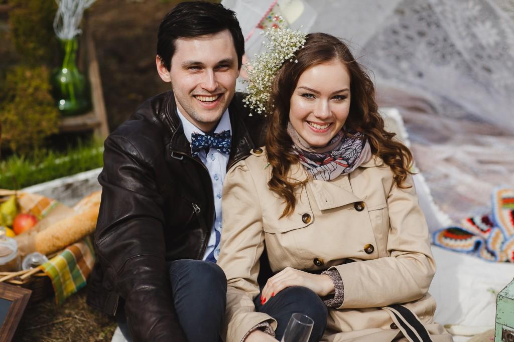 Стильная фотосессия Минск, рустикальный декор на свадьбу