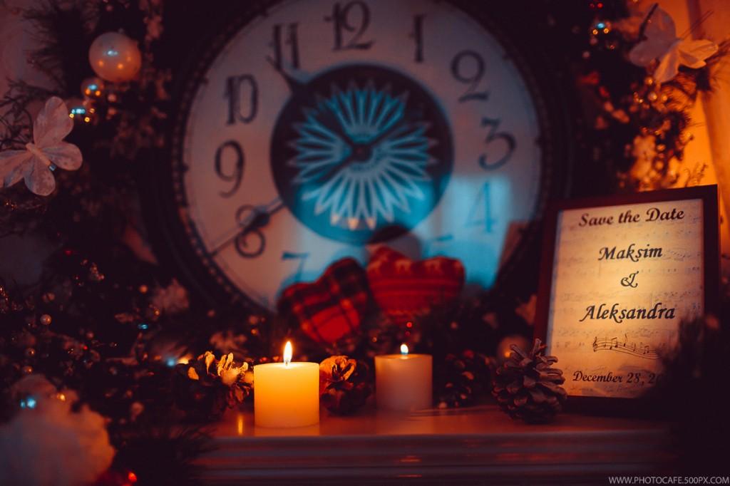 Новогодняя свадьба для Александры и Максима. Организация свадьбы в Минске