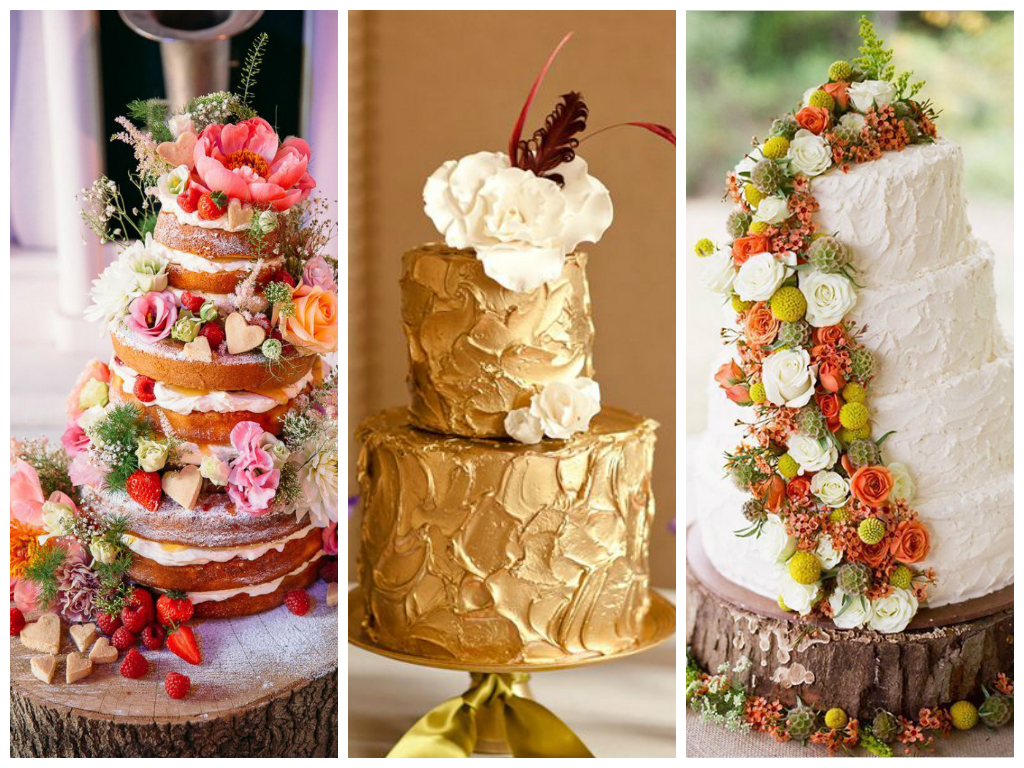 Свадебные торты - Тренды осени 2014