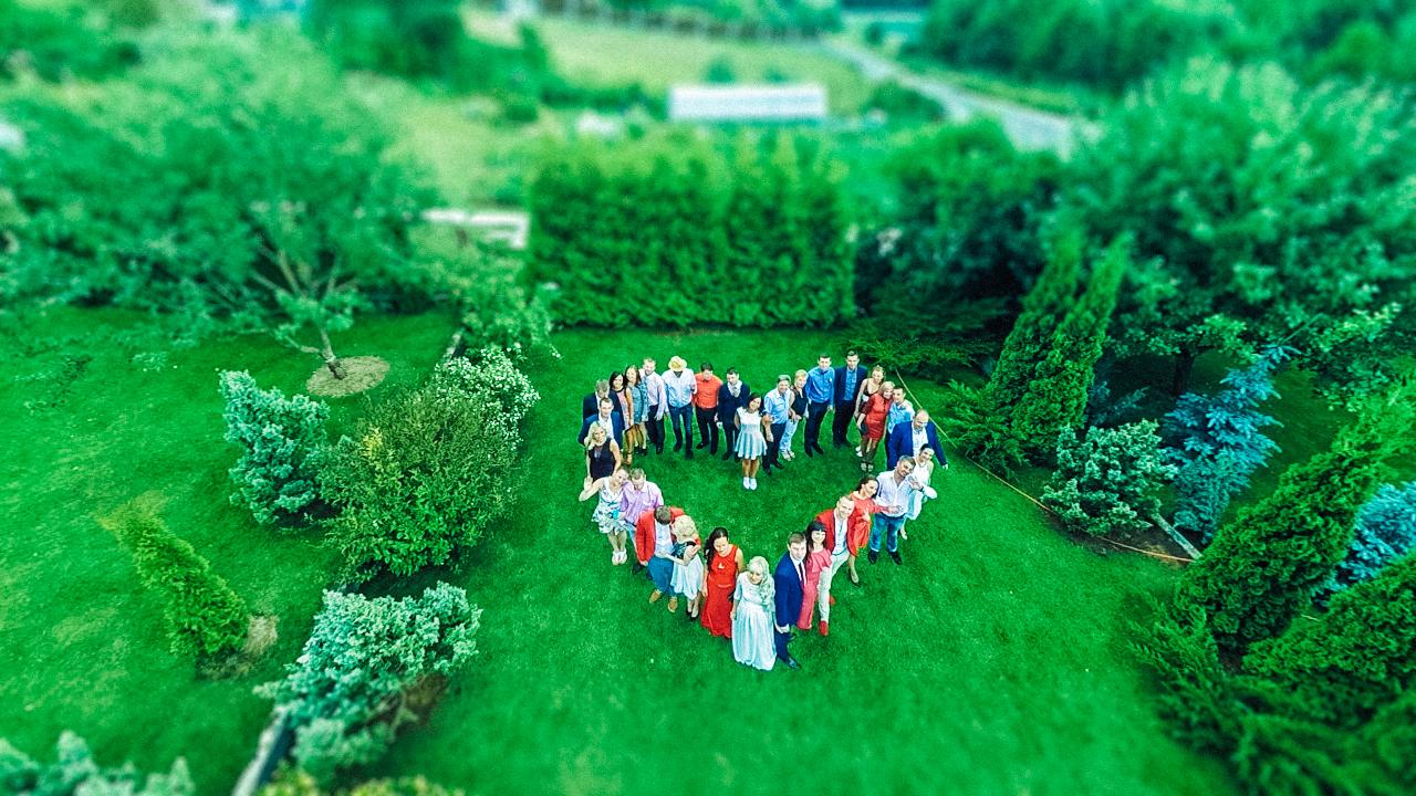 Аэросъёмка. Видеосъемка свадьбы с дрона. Организация свадьбы LoveStudio