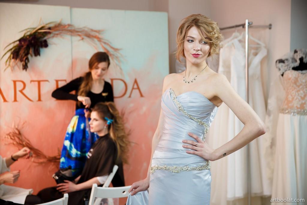 Алина Севрук. Демонстрация свадебных платьев на TeaTalk