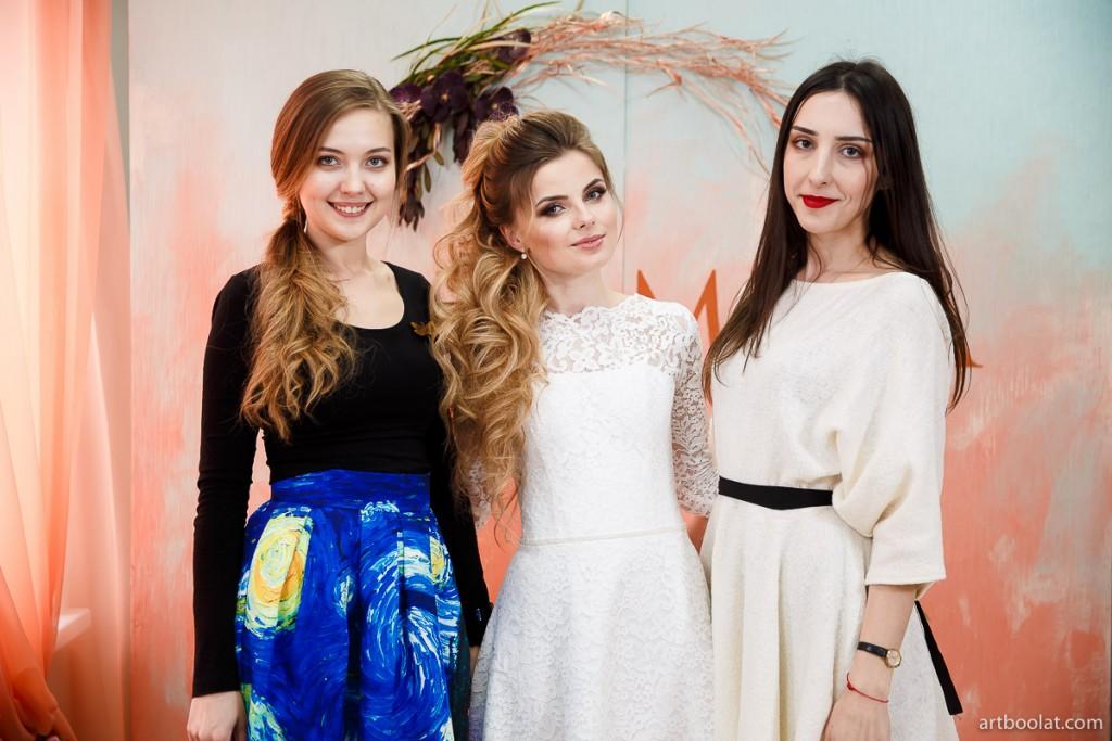 Юлия Барановская, Елена Протас-Пантюк: причёска и макияж для невесты